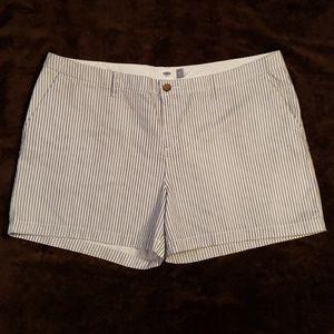 Old Navy Pinstripe Midi Shorts